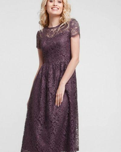 Вечернее платье осеннее красный Evercode