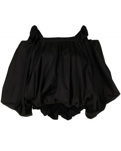 Черная блузка с открытыми плечами Goen.j