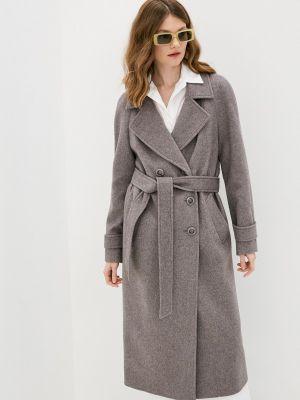 Серое пальто двубортное Avalon