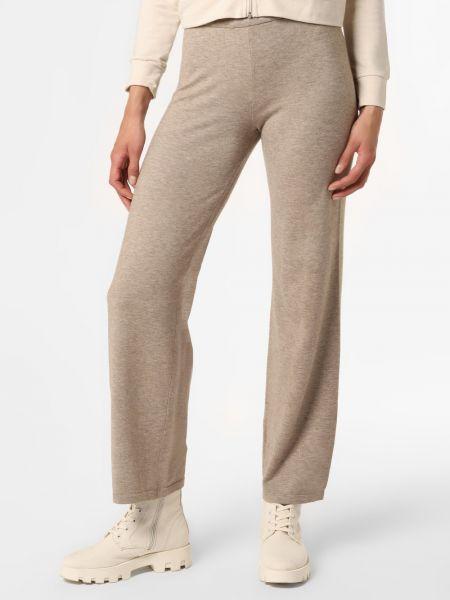 Beżowe spodnie dzianinowe Moss Copenhagen
