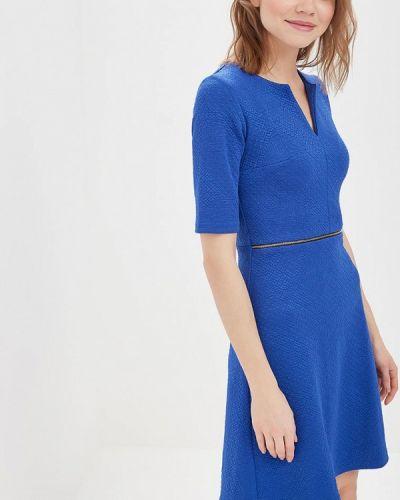 Деловое платье синее Rivadu