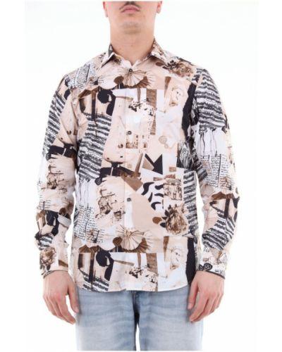 Koszula bawełniana z długimi rękawami na co dzień Aglini