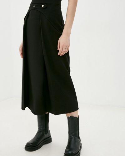 Черная юбка свободного кроя Be Main