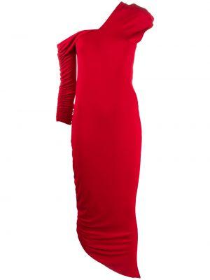 Красное асимметричное платье на молнии эластичное Gianfranco Ferre Pre-owned