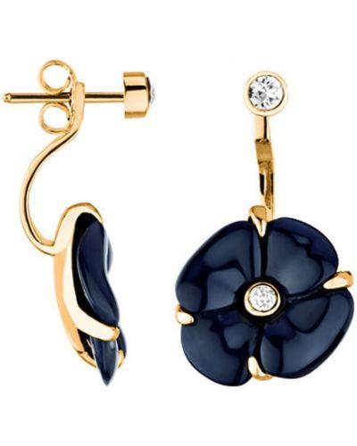 Золотые серьги позолоченные Nina Ricci