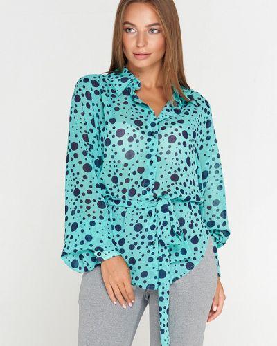 Блузка с длинным рукавом бирюзовая Sellin
