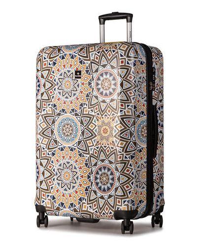 Brązowa walizka duża Saxoline