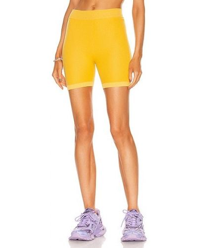 Żółte szorty bawełniane Nagnata