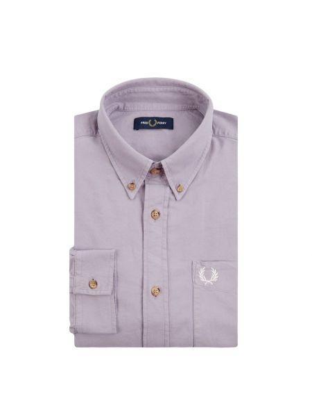 Koszula z długim rękawem Oxford z kieszeniami Fred Perry