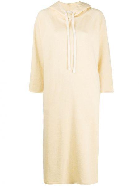 Платье миди с капюшоном с разрезами по бокам Áeron