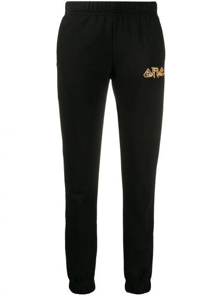Черные спортивные брюки с поясом с манжетами Omc
