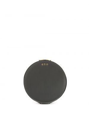 Желтая косметичка металлическая матовая круглая 0711
