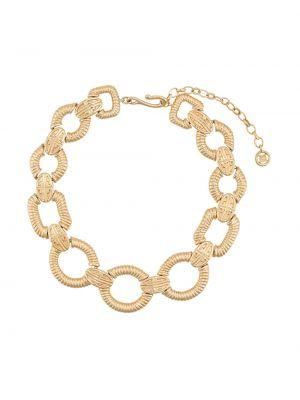 Ожерелье золотое металлическое винтажное Givenchy Pre-owned