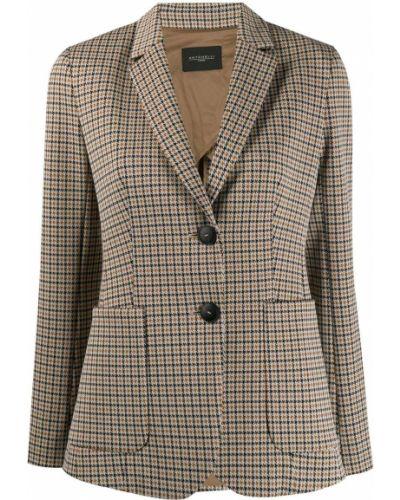 Приталенный удлиненный пиджак с карманами Antonelli