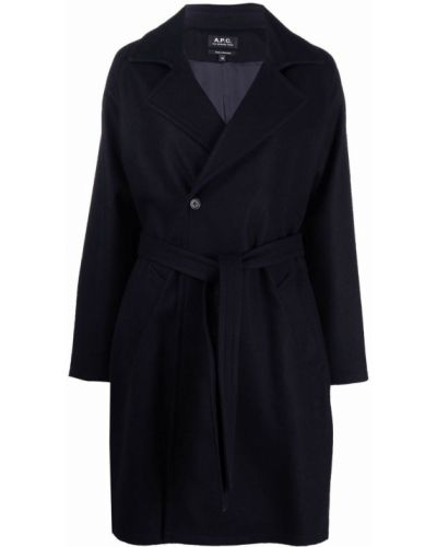 Шерстяное пальто - синее A.p.c.