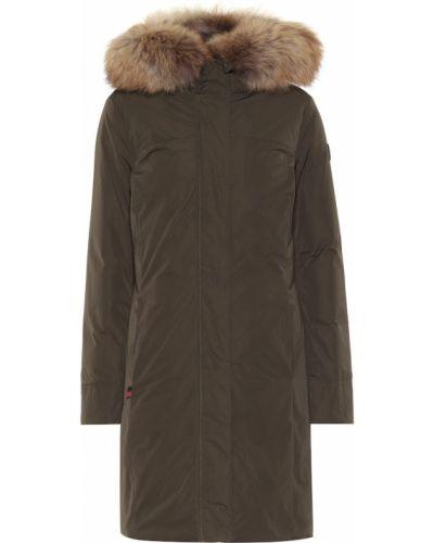 Зимнее пальто зеленое био пух Woolrich