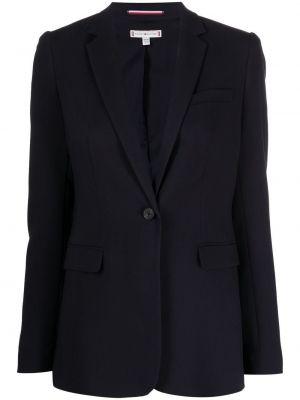 Однобортный синий классический пиджак с карманами Tommy Hilfiger