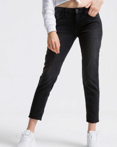 Черные джинсы-скинни с пайетками Ltb