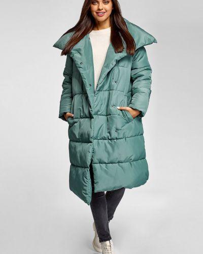 Куртка удлиненная - бирюзовая Oodji