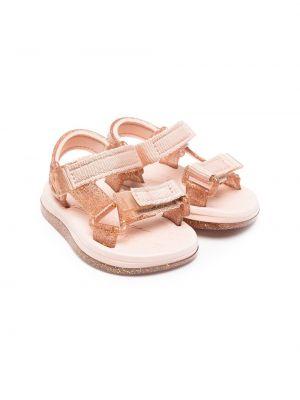 Открытые розовые с ремешком сандалии Mini Melissa