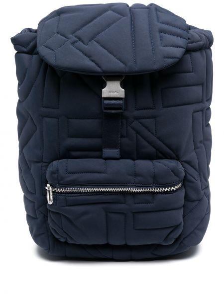 Синий нейлоновый стеганый сумка на плечо Kenzo