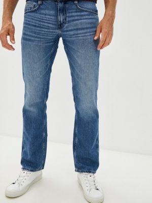 Синие прямые джинсы Mustang