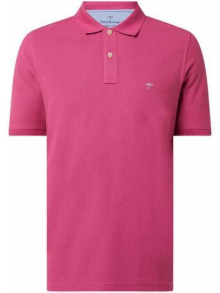 Różowy t-shirt bawełniany Fynch-hatton