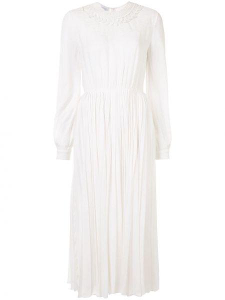Платье макси на пуговицах со вставками Giambattista Valli