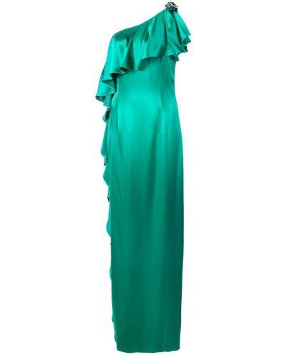 Платье с оборками - зеленое Zac Zac Posen