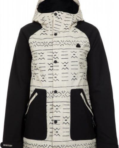 Куртка с капюшоном утепленная черная Burton