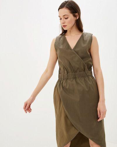 Платье прямое зеленый Alezzy Liriq