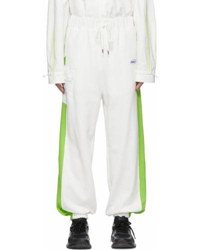 Białe spodnie z siateczką Ader Error