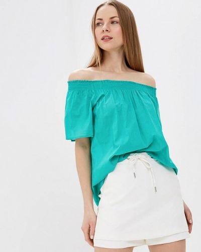 Блузка с открытыми плечами зеленый весенний United Colors Of Benetton