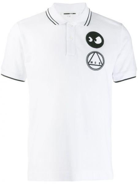 Biała klasyczna koszula krótki rękaw bawełniana Mcq Alexander Mcqueen