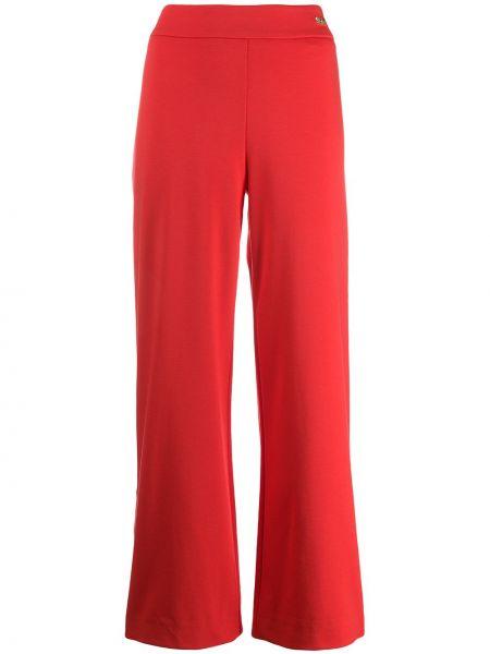 Спортивные брюки с завышенной талией - красные Cavalli Class