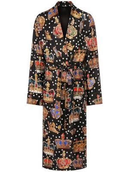 Халат шелковый Dolce & Gabbana