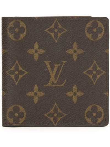 Brązowy portfel na monety skórzany Louis Vuitton