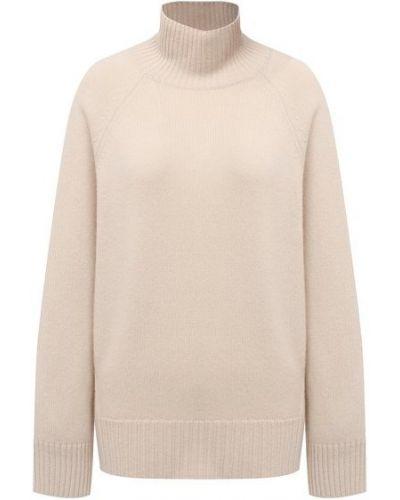 Бежевый кашемировый свитер Ftc
