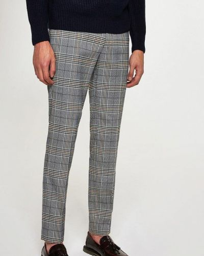 Серые зауженные брюки Topman