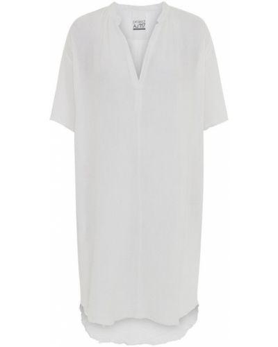 Biała sukienka mini elegancka krótki rękaw Project Aj117