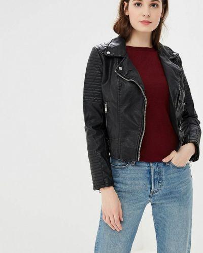 Кожаная куртка черная осенняя Jennyfer