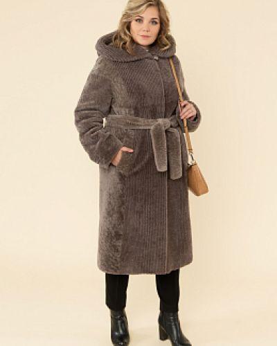 Пальто из овчины - коричневое каляев