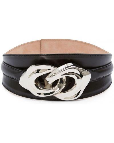 Черный кожаный корсет с поясом Alexander Mcqueen