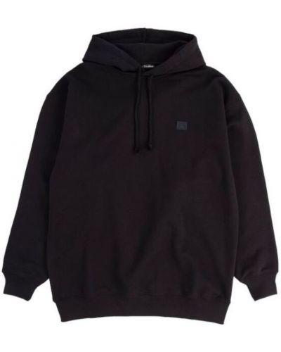 Czarna bluza z kapturem z długimi rękawami Acne Studios