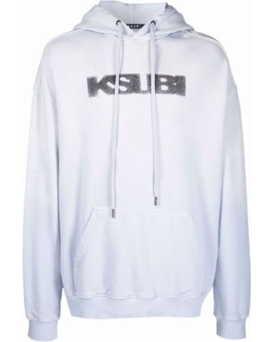 Niebieski sweter z kapturem Ksubi