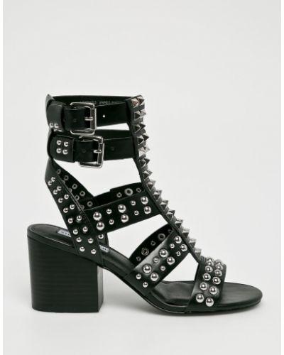 Туфли на каблуке с шипами черные Steve Madden