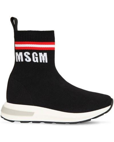 Prążkowane czarne majtki Msgm