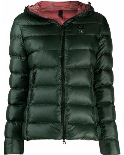 Куртка с капюшоном длинная зеленая Blauer
