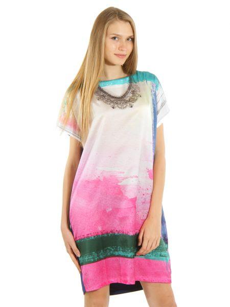 Шелковое платье - розовое Cerruti 18crr81