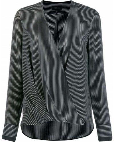 Czarna bluzka z długimi rękawami w paski Rag & Bone